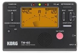 Korg Stimmgerät, Metronom, Schwarz, TM60BK - 1