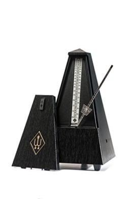 Wittner Taktell Pyramidenform Metronom Kunststoffgehäuse ohne Glocke schwarz
